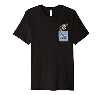 Disney Pixar Toy Story Buzz and Woody Pocket Premium T-Shirt