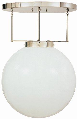 DMB 26/250 plafondlamp, opaal H 46cm Ø 30cm ophanging vernikkeld