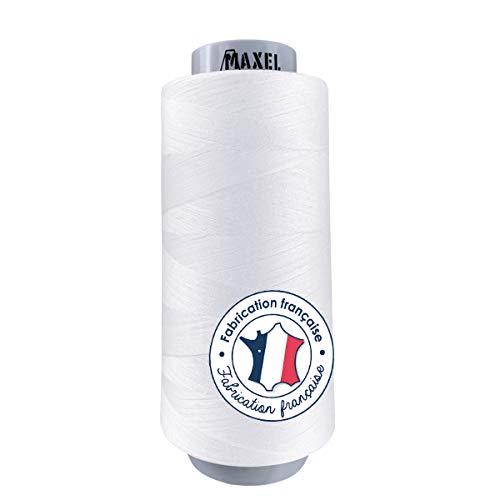 Made in FRANCE - Fil à Coudre Polyester BLANC 2,500m - Bobine pour Machine à coudre et Surjeteuse - certifié ECOGRIFFE et OEKO-TEX® (1xBlanc)