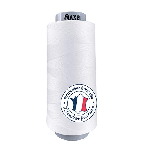 Made in FRANCE - Fil à Coudre Surjeteuse Polyester BLANC 2,500m - certifié ECOGRIFFE et OEKO-TEX®