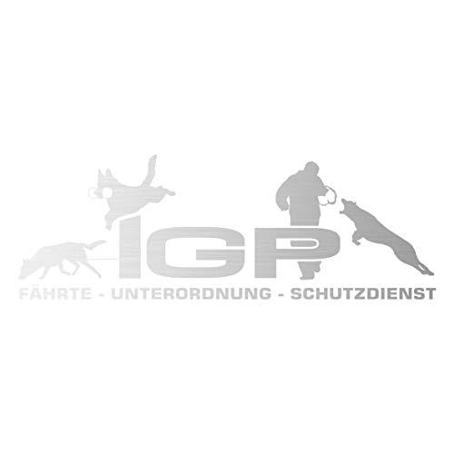 Siviwonder Auto Aufkleber IGP SCHUTZDIENST Autoaufkleber K9 Hundeanhänger ehemals IPO Hundesport Hundemotiv (Silber, 60cm)