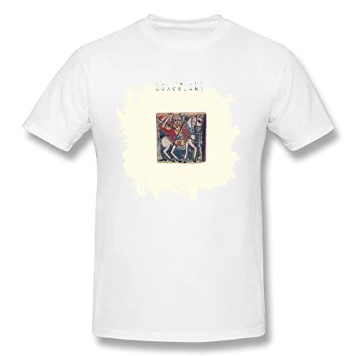 Men's T-Shirts PAU Simo#Gracelan 201 Handsome Tops Comfortable Humor Basic Short Sleeve Tees White L