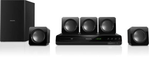Philips HTD3510/12 5.1 Heimkinosystem (DVD; 300W; 4 Sat.LS HDMI 1080p upsc. Dig. Opt. Audio-In) schwarz
