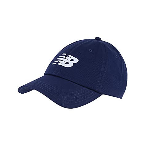 New Balance Men's and Women's 6-Panel Curved Brim Snapback Hat, Navy