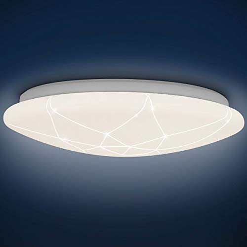 Plafón LED Lámpara de Techo Redondo 15W 1500LM 4000K para Pasillo/Habitación/Dormitorio/Infantiles/Juveniles, Modern Redondo Blanco 29CM, Luz de Techo