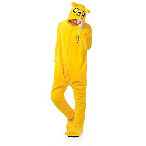 AYJMA Onesie Kigurumis, Pijama de Perro Amarillo, Ropa de Dormir Suave y clida para Adultos, Traje de Fiesta, Invierno, Divertido Mono de Dibujos Animados XL Jake