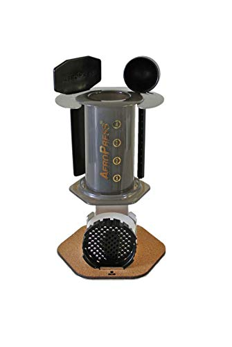Proper | AeroPress Companion - Organizer & Display Stand for AeroPress Coffee Maker Accessories Filters (Stainless Steel)