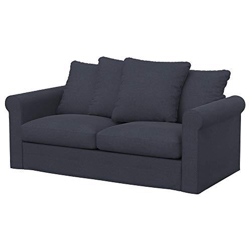 Soferia Funda de Repuesto para IKEA GRONLID sofá Cama de 2 plazas, Tela Elegance Denim, Azul