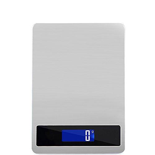 Balanza electrónica 10G acero inoxidable balanzas de cocina escalas de alimentos precisión 5kg / 1g grado de precisión con un peso 15G balanza balanza pantalla táctil balanzas electrónicas recargables