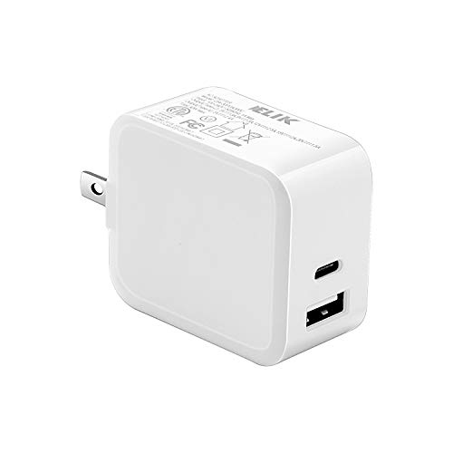 USB Type C Wall Charger 30W 2 Port Foldable Fast Charger with 18W USB C Power Adapter for iPhone Xs/Max/XR/X/8, Ipad Pro 2018/Air 2/Mini, MacBook Pro/Air, Galaxy S10/S9/S8, Pixel, LG, Nexus, and More. Buy it now for 14.99