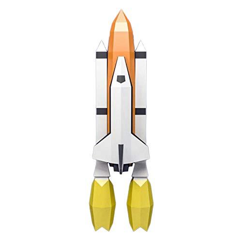 WLL-DP Cohete Personalizado Escultura De Papel 3D Modelo De Papel De Bricolaje Hecho A Mano Rompecabezas De Origami Geométrico Papel Precortado Artesanía De Papel Juguete Decoración De Pared