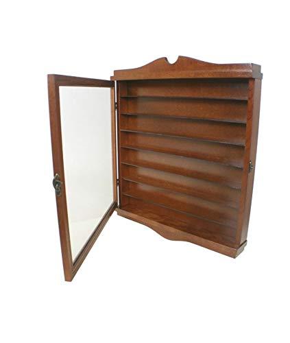 CAL FUSTER - Vitrina porta dedales madera de cedro color avellana. Medidas: 47x41x6 cm.