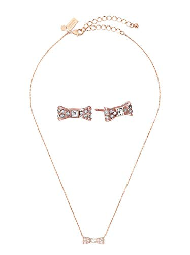 Kate Spade Pendant And Studs Boxed Set Rose Gold Bow