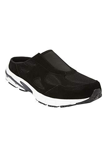 KingSize Men's Wide Width Slip-On Sneaker - Big - 13 M, Black