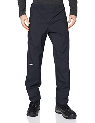 Berghaus Regenhose Standard Leg Paclite Pants Pantalones para Caminar, Uomo, Black, M