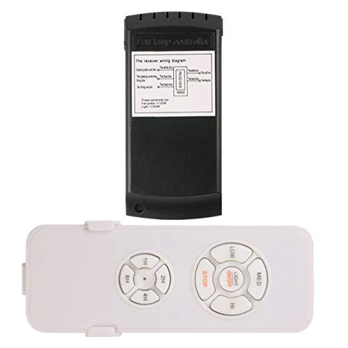 NUOBESTY 90- 265V Control Remoto Universal de Plástico Controlador Inteligente Inalámbrico Interruptor de Sincronización Reemplazo para Lámpara de Ventilador de Techo sin Batería