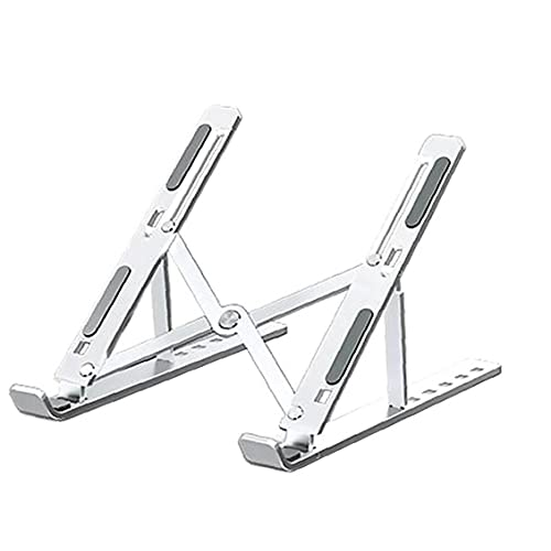 FeelMeet Laptop Stand Holder Ordenador portátil Plegable Ajustable Vertical Monte Multi usos portátil de Escritorio ergonómico Espacio-Save Plata