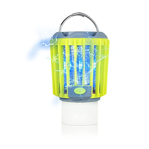 ERAVSOW Camping Bug Zapper & LED Lantern & Flashlight 3 in 1, Rechargeable Mosquito Killer, Portable Compact Camping Gear for Outdoors