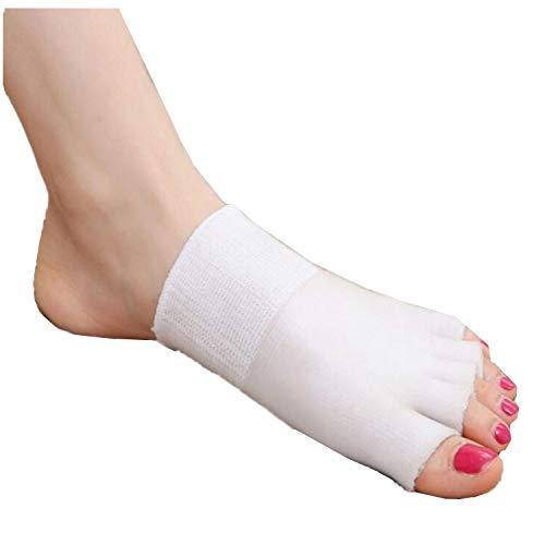 1 Paar Gel Vorfußpolster Fußpads Zehensocken Gelkissen Zehe Ärmel für SPA, Rutschfest Kissen Metatarsal Pads,lindert Füße Schmerzlinderung für Frauen