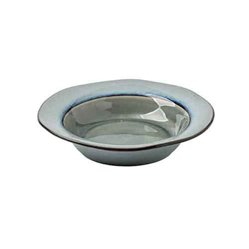 CAIJINJIN Bowl Céramique Retro Arts de la table Saladier Big Soup Bowl Ramen Bowl plat Bowl Soup Plate ménages