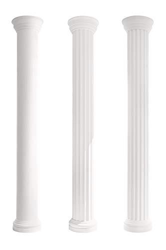 Kapitell für Säulen   harte Acryl Außenschicht   Fassade   Barock   Außendekor   Stuck   weiß   EPS   380 x 380 mm   LC101-1F