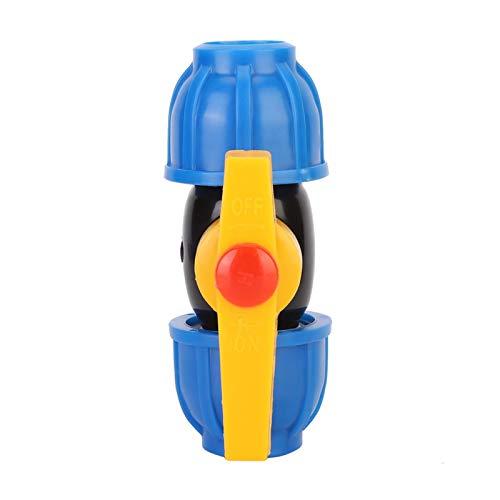 Kugelhähne, Wilecolly 5-teiliges PE-Wasserrohr-Anschlussstück Kugelhahn für Rohr-Schnellanschlussschalter 20 mm Bewässerungswerkzeug