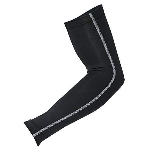おたふく手袋 ボディータフネス 冷感 パワーストレッチ アームカバー Lサイズ JW-618 ブラック