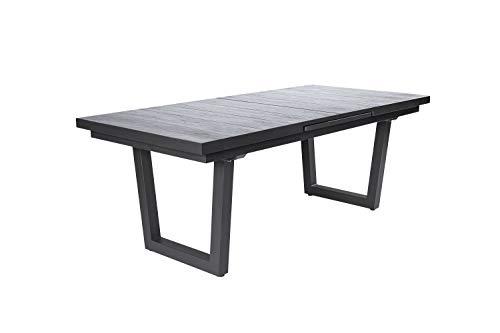 OUTDOOR Gartentisch Komido(BHT 200x76x100 cm) BHT 200x76x100 cm grau Gartentisch Klapptisch Holztisch Metalltisch Outdoortisch Balkontisch