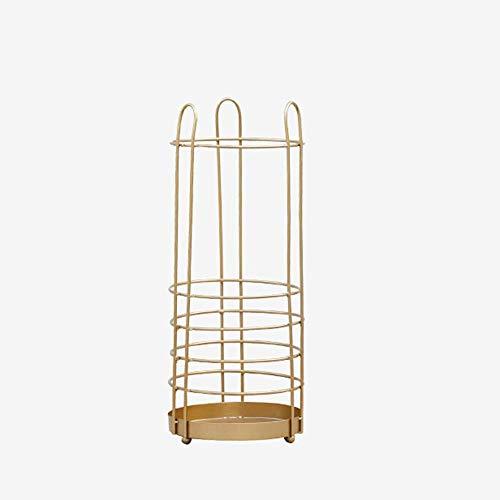 DXX Ferro Portaombrelli anticamera Home Storage portaombrelli (nero e oro 60 * 25 * 2.5cm),Oro