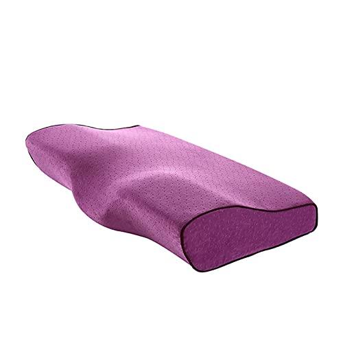 Almohada para el cuello,almohada de mariposa,almohada de espuma viscoelástica,almohada para el cuello,almohada cervical,adulto de verano individual,alivia el dolor y cuida la columna cervical