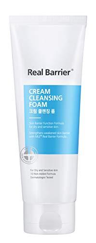 Real Barrier Cream Cleansing Foam 150g - Schonender Cleanser (pH neutral) - K-Beauty Reinigungsmilch für empfindliche Haut