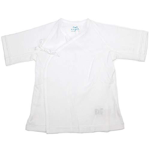 エンゼル ベビー 短肌着 脇メッシュタイプ 新生児肌着 日本製 出産準備 出産祝い 50〜70cm 綿100% 通年素材 白