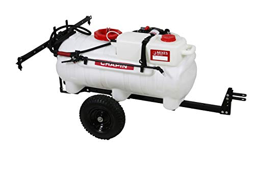 Chapin International. 97761 Chapin Presents The First-Ever Clean-Tank Tow Behind Spraying System, 25-Gallon Sprayer, Translucent White
