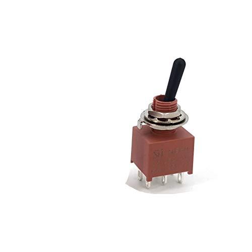 Kfdzsw Interruptores Palanca SH-E80 Serie T Sellado Impermeable IP67 Negro manija de Montaje en Panel Mini Interruptor de Palanca 6A 125VAC (Color : NE8011 ON ON)