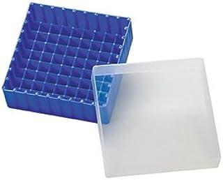 2821 2428 purple 16 Position ea. 130 x 130 x 102mm PP Storage Box for 28mm OD EPA Vials