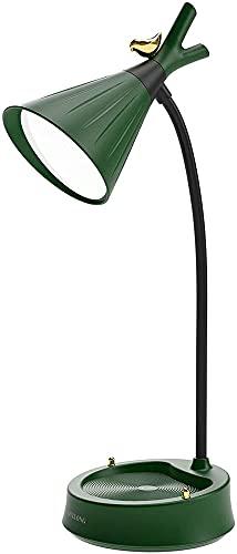 Lámpara De Escritorio Con Protección Ocular Regulable Táctil LED Lámpara De Escritorio Con Cuello De Cisne Recargable USB Con Soporte Lámpara De Libro De Lectura Junto A La Cama Del Dormitorio