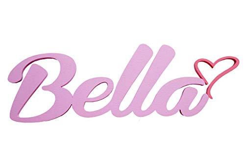 Mädchen oder Junge Name Tür Vorlagen mit einem Herz, Bella, personalisierbar Tür Schilder, Kinderzimmer-Custom Geschenke, Geburtstag Geschenke, Taufe Dekore, Baby Geschenk, Mia Studio,Kontaktieren Sie den Verkäufer über die Amazon-Nachricht, um den N