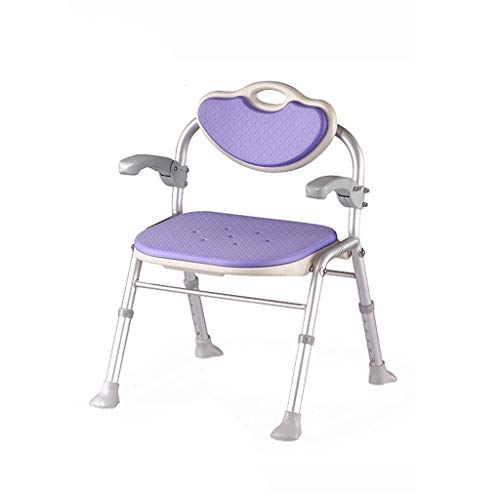 ZWH-Shower Bench Safety Non-Slip Folding Shower Chair for Elderly Shower Stool Bath Stool Pregnant Women and Disabled Shower Seats Stool,Adjust 5 Heights Shower Chair