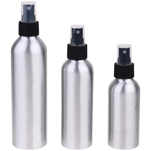 Milisten 3Pcs Bouteille de Pulvérisation en Aluminium Tout Usage Bouteilles de Pulvérisation Vides Bouteille D'eau de Brume pour Les Solutions de Nettoyage Lotion de Parfum (120 Ml 150 Ml 250 Ml)