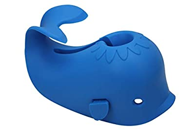 Bath Spout Cover for Bathtub - Faucet Baby Covers Protects Baby During Bathing Time While Being Fun. Cute Soft Whale Making for Enjoyable Safe Baths Your Child Will Love. (1 Pack, Blue)