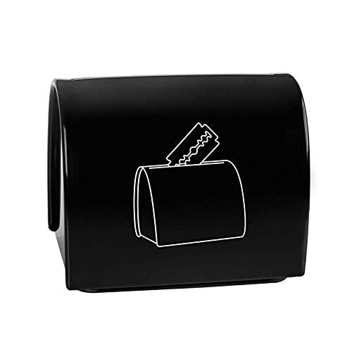 Defeat Klingen-Entsorgungskoffer Sichere Aufbewahrungsbank für gebrauchte Rasierklingen Rasiermesser-Aufbewahrungskoffer Ersatz-Rasiermesser-Container Klingenaufbewahrung, Gebrauchte Doppelkanten