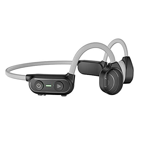 Auriculares de conducción ósea inalámbricos para deportes Auriculares deportivos abiertos impermeables compatibles con Bluetooth 5.0 Auriculares para correr gris