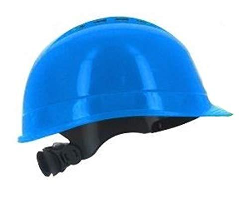 Silent SL1470 Casco de seguridad industrial, sombrero duro de construcción, ventilado, arnés de 6 puntos, certificado EN 397 y A1, azul