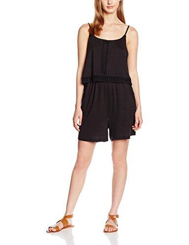 VERO MODA Damen VMODAIKUNA SL Playsuit WP GA Jumpsuits, Schwarz (Black), 40 (Herstellergröße: L)
