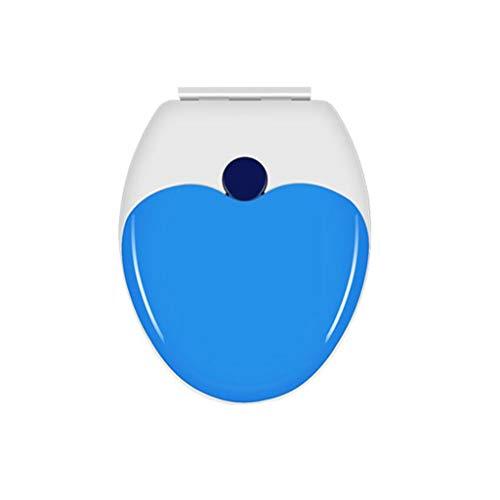 MGMDIAN 2 in 1 Toilettensitz Erwachsene/Kinder doppelt Dicke PP-Platte V-förmig U-förmig O-Typ Silent-Clip-Toilettenabdeckung (dazwischen kann eingestellt Werden) (Color : A, Size : Vtype)