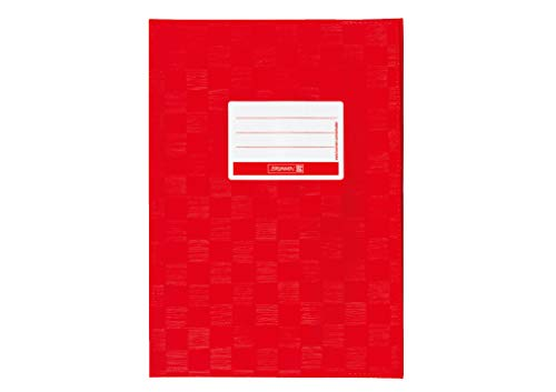 Brunnen 104052524 Hefthülle / Heftumschlag (A5, Folie, mit Namensschild) rot
