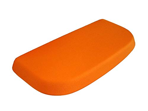 Spandex Fabric Cover for a lid Toilet Tank - Handmade USA (Orange)
