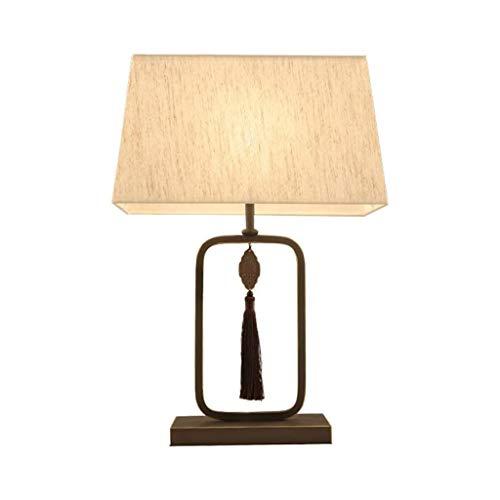YWSZJ Lámpara de Escritorio Moderna, Hierro Forjado lámpara de Escritorio In Living Sala de Estudio Dormitorio, Cobre, Tela