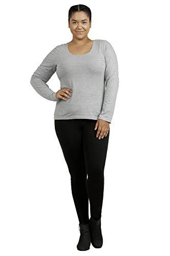 Sofra Cotton Leggings - Women's Medium Weight Breathable Cotton Leggings (M, Black)