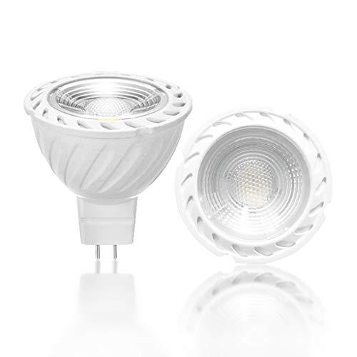 VARICART GU5.3 12V COB LED Glühlampe Farbe Warm Weiss 3000K, 6W MR16 60° Strahlwinkel, 50W Halogen Gleichw. 500lm Dimmbar, Traditionelle Scheinwerfer Lampe für Deckenbeleuchtung (4-er Packung)